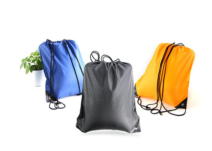 Fold Personalized Lightweight Drawstring Bag Backpack Silk Screen Printing